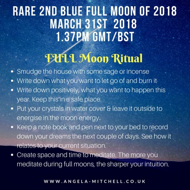 How to take advantage of tomorrow's Blue Full Moon Energy