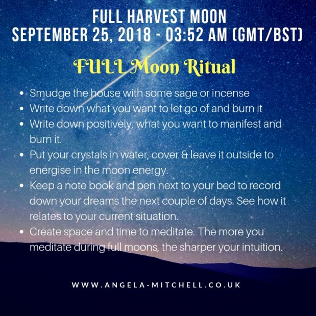 September's Full Harvest Moon in Aries