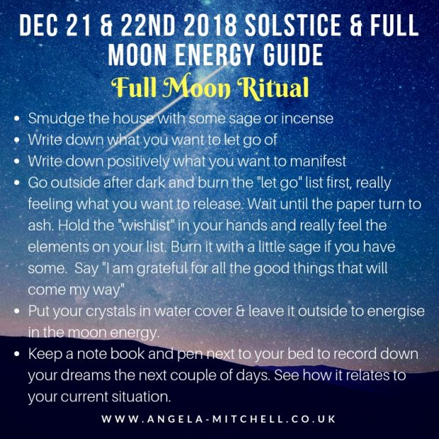 Three things to do this Winter Solstice & Full Moon Weekend
