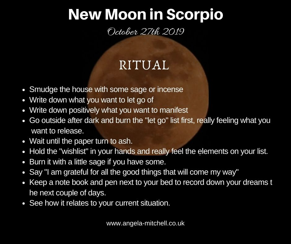 Moon Ritual New Moon in Scorpio